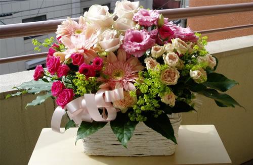 【ポイント10倍】アレンジ ピンクポップ【花 フラワーギフト プレゼント アレンジメント フラワー】