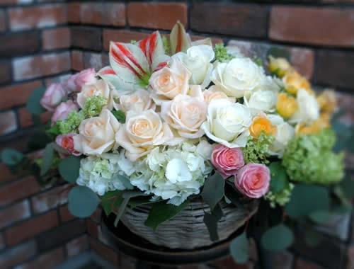 【ポイント10倍】アレンジ ハッピーローズ【花 フラワーギフト プレゼント アレンジメント フラワー】