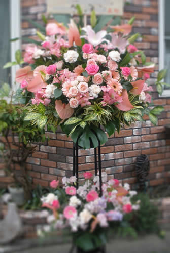 【ポイント10倍】スタンド ダブル ピンク系【花 フラワーギフト プレゼント スタンド フラワー】