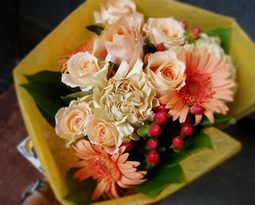 【ポイント10倍】花束 オレンジシック【花 フラワーギフト プレゼント 花束 フラワー】