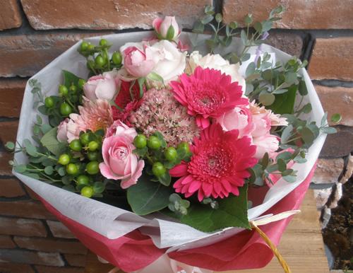 【ポイント10倍】花束 ピンクポップブーケ【花 フラワーギフト プレゼント 花束 フラワー】