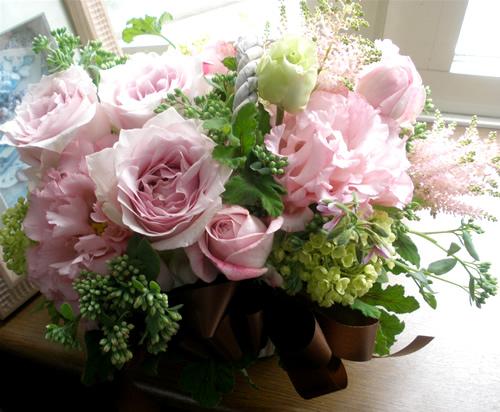 【ポイント10倍】アレンジ ロマンチックピンク【花 フラワーギフト プレゼント アレンジメント フラワー】