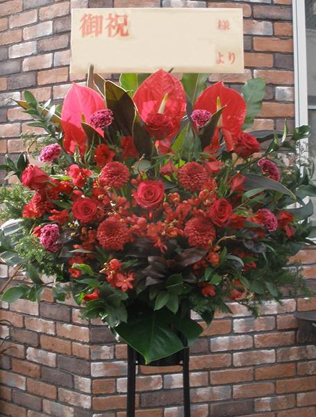 【ポイント10倍】スタンド シングル 赤色系【花 フラワーギフト プレゼント スタンド フラワー】