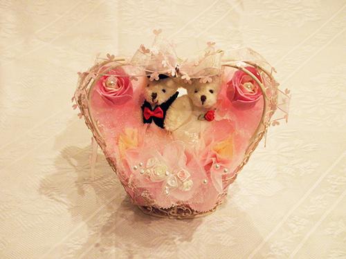 【ポイント10倍】ブライダルハートフラワー【誕生日 バースデー 贈答 プレゼント ギフト キャンディ】