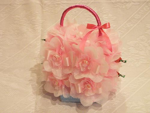 【ポイント10倍】フラワーバッグ(中)【誕生日 バースデー 贈答 プレゼント ギフト キャンディ】の画像1枚目