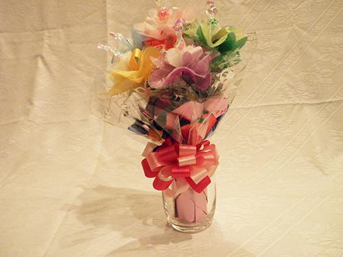 ポイント10倍!カラフルなキャンディ花束の画像1枚目