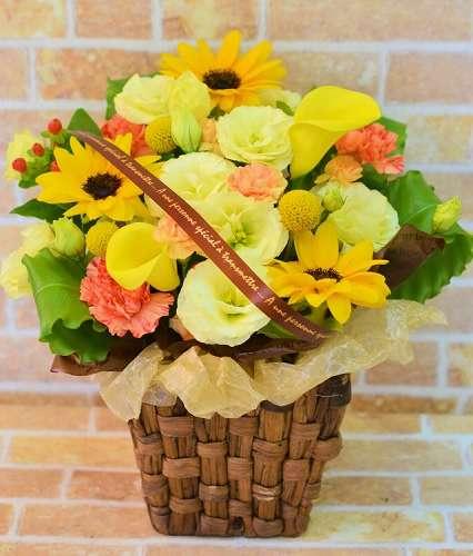 【送料無料】夏のひまわりアレンジM【花 フラワーギフト アレンジメント フラワー 誕生日】