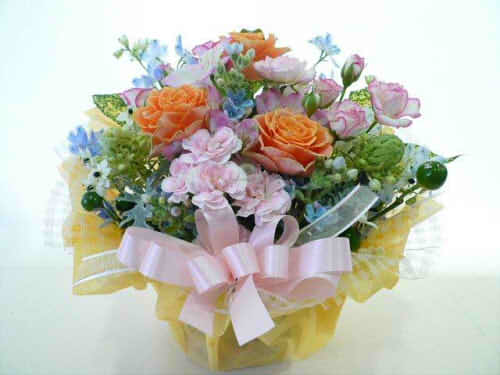 生花アレンジ【花 フラワーギフト プレゼント お祝い 誕生日 贈り物】