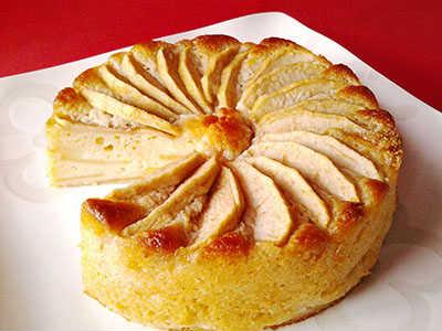 【ビーガン対応 アレルギー対応】長野県産 有機りんごのケーキ6号(直径18cm)