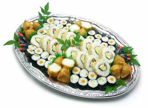 【ポイント10倍】巻寿司といなり盛り合わせ【手作り オードブル 惣菜 高級食材使用】の画像1枚目