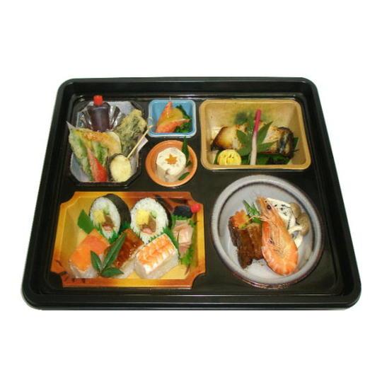 【ポイント10倍】銀鱈と押し寿司・天ぷらの幕の内【手作り弁当 高級食材使用】