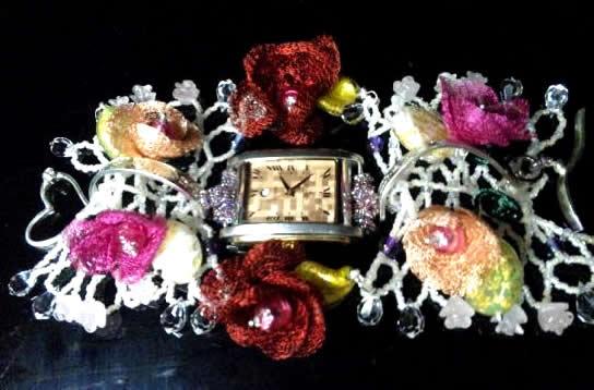 妖精の時間<br>【誕生日 贈り物 プレゼント お祝い アクセサリー 一点もの 時計 ブレスレット ハングル】の画像1枚目