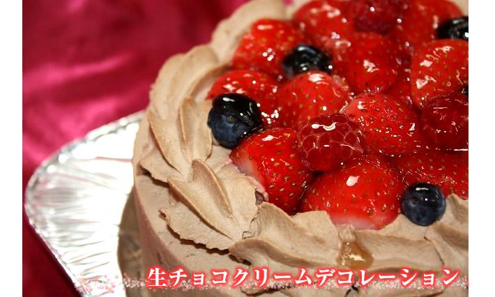 生チョコクリームデコレーション6号【誕生日 デコ ケーキ バースデーケーキ バースデー】の画像1枚目
