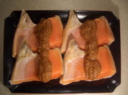 特大トロサーモンカマ4切セット【魚 魚介類 食材 セット 贈答 贈り物】の画像1枚目