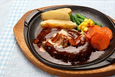 国産牛・国産豚使用 洋食屋さんの手ごねハンバーグ&牛すじシチューの画像1枚目