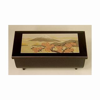 オルゴール付き宝石箱「富士山と桜花」の画像1枚目