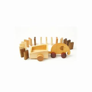木のおもちゃ 森のささやきシリーズ エレファントドミノ【プレゼント 贈り物 誕生日 記念日】の画像1枚目