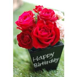 【ポイント10倍】黒板にメッセージ かわいい 赤いバラ ギフト 【Blackboad&Flower】