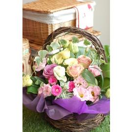 【送料無料】かわいいアレンジ すてきなプレゼント いつもありがとう 【かわいいピンクのアレンジメント】