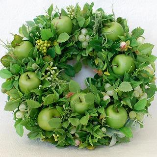 【ポイント10倍】造花リース『Pomme Verte』