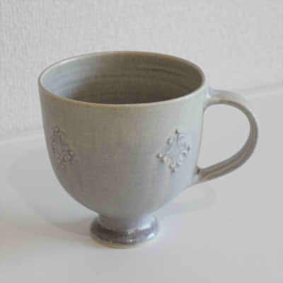豊田雅代 マグカップ グレー【職人手作り、新築引越し祝い、陶器】
