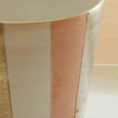 徳田吉美 カップ大 マルチストライプ ピンク【職人手作り、新築引越し祝い、木製】の画像3枚目