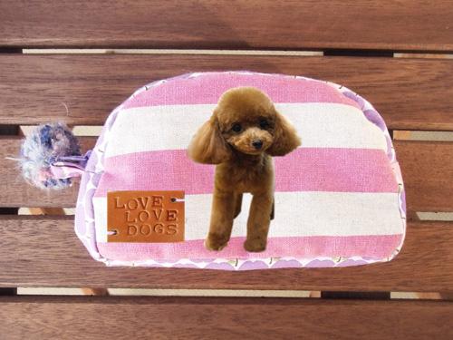 愛犬オリジナルポーチ(ピンク)の画像1枚目