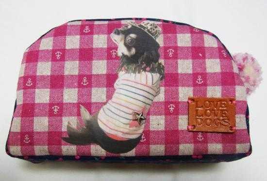 オリジナルうちのこポーチ(ピンク)【誕生日 贈り物 プレゼント お祝い ペット】の画像1枚目