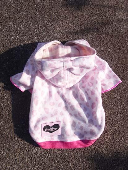 レオパードパーカー(ピンク)【誕生日 贈り物 プレゼント お祝い ペット 洋服】の画像2枚目