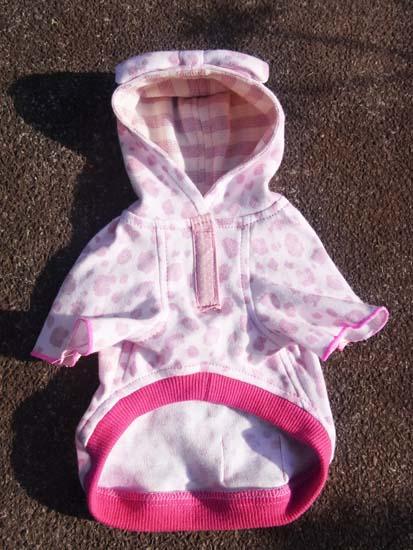 レオパードパーカー(ピンク)【誕生日 贈り物 プレゼント お祝い ペット 洋服】の画像3枚目