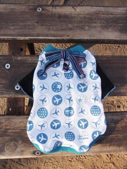 プレインTシャツ ブルー【誕生日 贈り物 プレゼント お祝い ペット 洋服】の画像2枚目