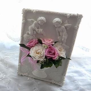 【誕生日花ギフト】天使のフレーム(ピンク)の画像1枚目