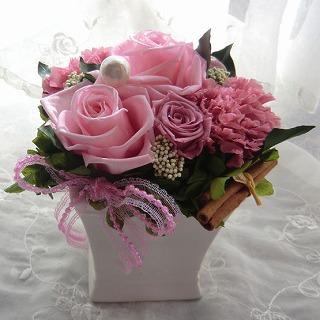 【お誕生日プレゼント】プリザーブドフラワーギフト(ピンク)の画像1枚目