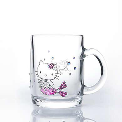 ハローキティマーメイド・マググラス(ピンク)【誕生日 バースデー ギフト 贈り物 プレゼント グラス 食器 スワロフスキー】の画像1枚目