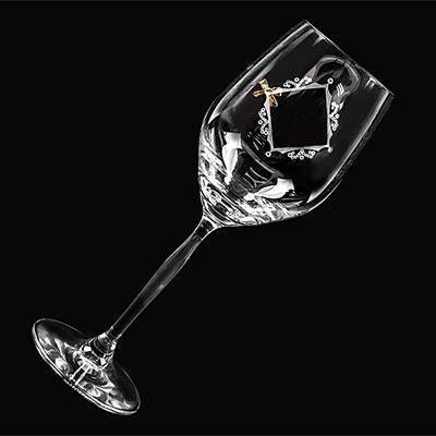 3Dフレームリボンワイングラスの画像1枚目
