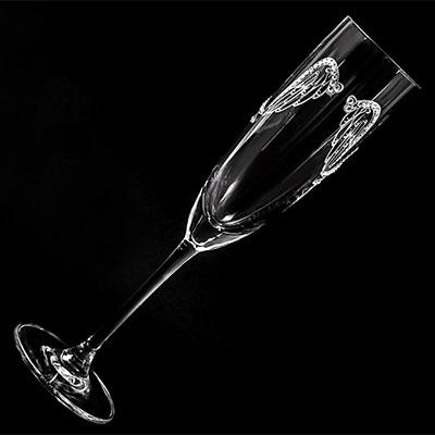 angel wing グラス【誕生日 バースデー ギフト 贈り物 プレゼント グラス 食器 スワロフスキー】の画像1枚目