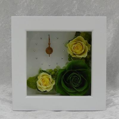 時計とお花のアレンジ 想時越 (おもいときこえて)【プリザーブドフラワー アレンジメント フラワーギフト プレゼント ギフト】