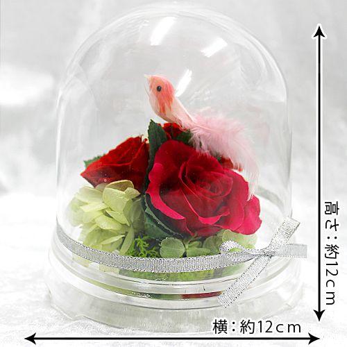 ガーデンドームL【プリザーブドフラワー アレンジメント フラワーギフト プレゼント ギフト】の画像3枚目
