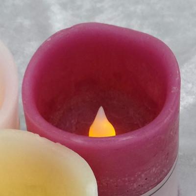 火を使わないキャンドル型LEDライト(ローズの香り) ※単三電池2本付き【誕生日 バースデー ギフト 贈り物 プレゼント お祝い ギフト】の画像2枚目