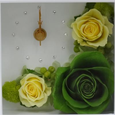 時計とお花のアレンジ 想時越 (おもいときこえて)【プリザーブドフラワー アレンジメント フラワーギフト プレゼント ギフト】の画像2枚目