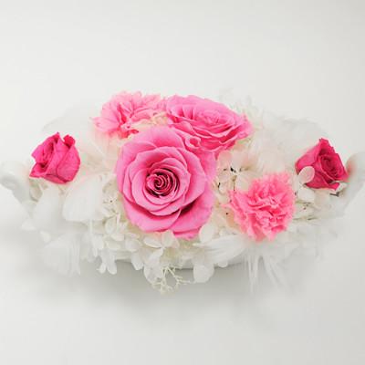 淡いピンク色の薔薇 ヴェネチア【プリザーブドフラワー アレンジメント フラワーギフト プレゼント ギフト】の画像2枚目