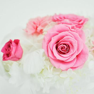 淡いピンク色の薔薇 ヴェネチア【プリザーブドフラワー アレンジメント フラワーギフト プレゼント ギフト】の画像3枚目