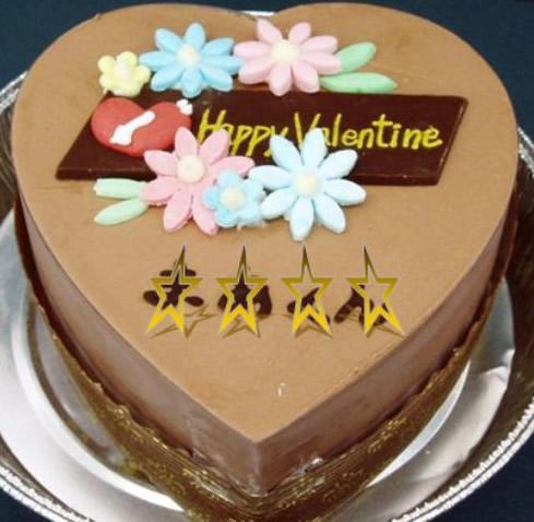 バレンタイン・ホワイトデー ハートチョコレート 13cm