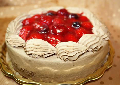 チョコ生苺デコレーションケーキ 4号 12cmの画像1枚目
