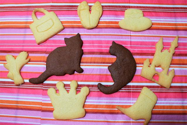 黒猫のレオンや王冠の形をしたクッキー達☆レオンクッキー