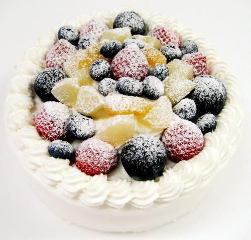 粉糖 フルーツデコレーションケーキ 4号 12cm