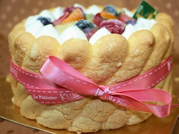 フルーツのシャルロット7号【バースデーケーキ 誕生日ケーキ デコ バースデー】の画像1枚目