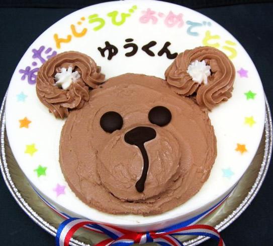 ジェラートケーキテディベア15cm【誕生日 デコ アイスケーキ バースデー】の画像1枚目
