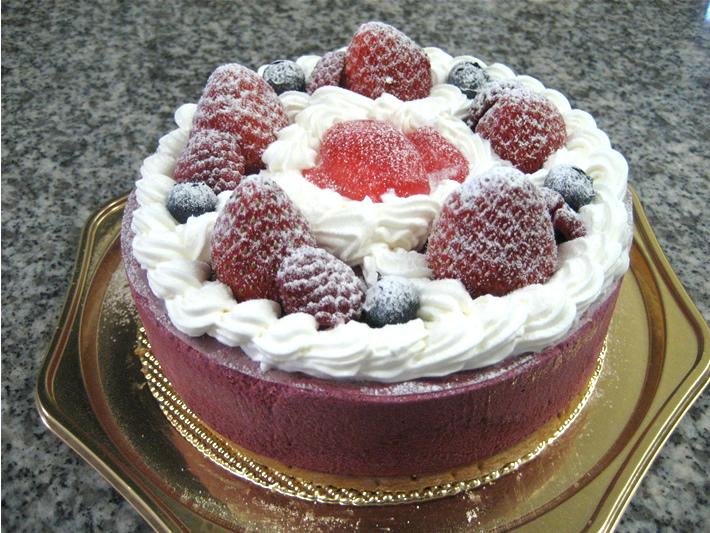 カシスムース4号(12cm)【バースデーケーキ 誕生日ケーキ デコ バースデー】