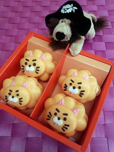 ライオンマカロン(伊予柑オレンジ)4個入りの画像1枚目